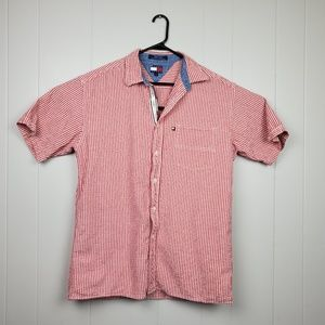 Vtg Tommy Jeans 90's Red Gingham Button Up Shirt
